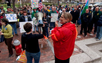 Vermont Unions and WOrkers Rally against visit by RNC Chair Rence Preibus